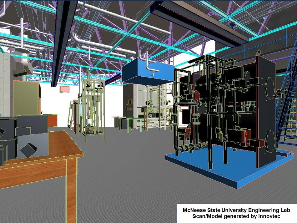 Scan and Model at McNeese State University